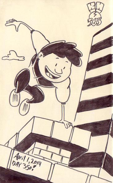 Kid Hercules 365 Challenge by illustrator Scott DuBar